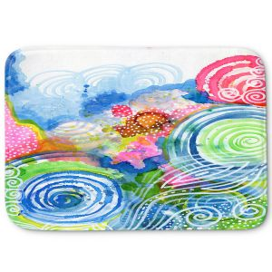 Decorative Bathroom Mats | Robin Mead - Far and Away | abstract shapes spiral dots