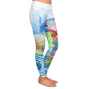 Casual Comfortable Leggings | Robin Mead - Far and Away | abstract shapes spiral dots