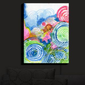 Nightlight Sconce Canvas Light | Robin Mead - Far and Away | abstract shapes spiral dots