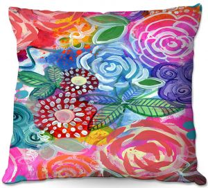 Throw Pillows Decorative Artistic | Robin Mead - Flora 33 | Floral Pattern Flowers Nature