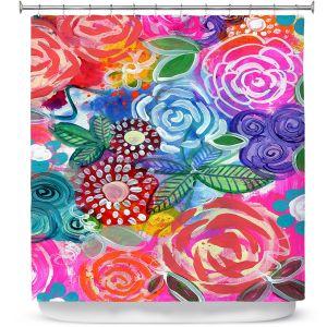 Premium Shower Curtains | Robin Mead - Flora 33 | Floral Pattern Flowers Nature