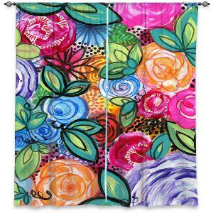 Decorative Window Treatments | Robin Mead - Flores 1 | Floral Pattern Flowers Nature
