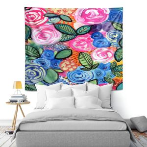 Artistic Wall Tapestry   Robin Mead - Flores 2   Floral Pattern Flowers Nature