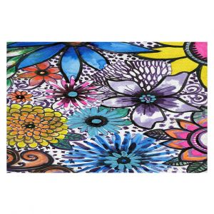 Decorative Floor Coverings | Robin Mead - Flower Pop | Floral Pattern Flowers Nature