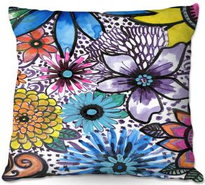 Throw Pillows Decorative Artistic | Robin Mead - Flower Pop | Floral Pattern Flowers Nature