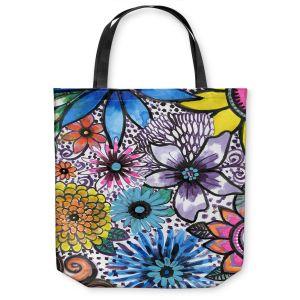 Unique Shoulder Bag Tote Bags | Robin Mead - Flower Pop | Floral Pattern Flowers Nature