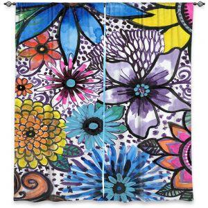 Decorative Window Treatments   Robin Mead - Flower Pop   Floral Pattern Flowers Nature