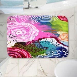 Decorative Bathroom Mats | Robin Mead - Freefall | flower pattern
