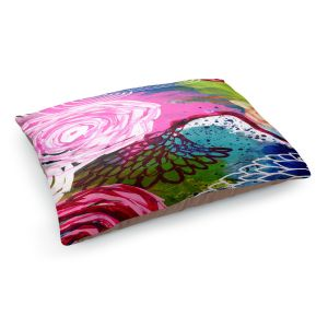 Decorative Dog Pet Beds | Robin Mead - Freefall | flower pattern