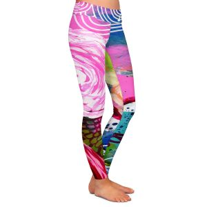 Casual Comfortable Leggings | Robin Mead - Freefall | flower pattern