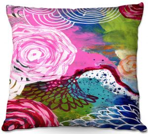 Unique Outdoor Pillow 16X16 from DiaNoche Designs by Robin Mead - Freefall