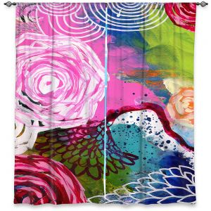 Decorative Window Treatments | Robin Mead - Freefall | flower pattern