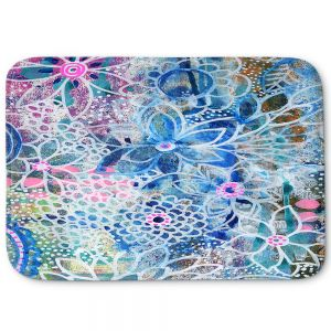 Decorative Bathroom Mats | Robin Mead - Freesia | Floral Pattern Flowers Nature