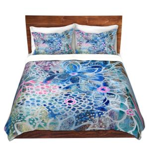 Artistic Duvet Covers and Shams Bedding   Robin Mead - Freesia   Floral Pattern Flowers Nature