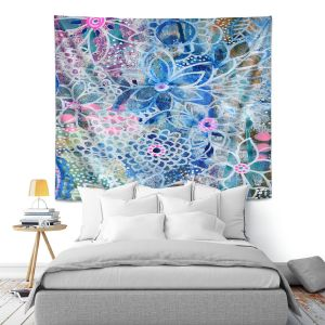 Artistic Wall Tapestry | Robin Mead - Freesia | Floral Pattern Flowers Nature