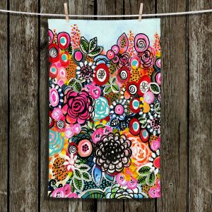 Unique Hanging Tea Towels | Robin Mead - French Quarter | Floral Pattern Flowers Nature