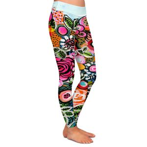 Casual Comfortable Leggings | Robin Mead - French Quarter | Floral Pattern Flowers Nature