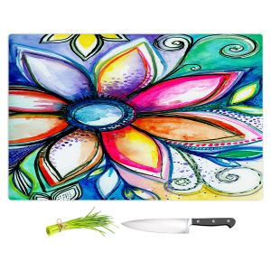 Artistic Kitchen Bar Cutting Boards | Robin Mead - From Within | Floral Flower Colorful
