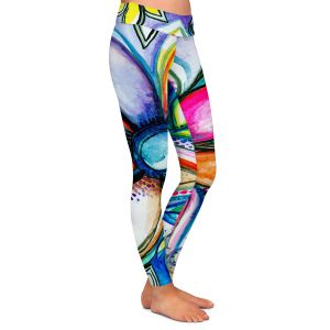 Casual Comfortable Leggings   Robin Mead - From Within   Floral Flower Colorful