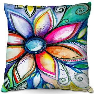 Throw Pillows Decorative Artistic | Robin Mead - From Within | Floral Flower Colorful
