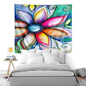 Artistic Wall Tapestry   Robin Mead - From Within   Floral Flower Colorful