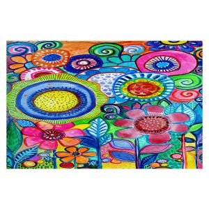 Decorative Floor Covering Mats | Robin Mead - Garden of Colors | Floral Flower Colorful