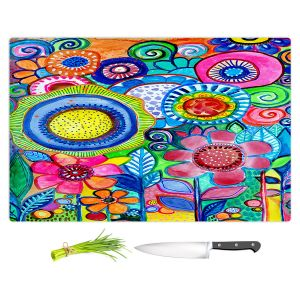 Artistic Kitchen Bar Cutting Boards | Robin Mead - Garden of Colors | Floral Flower Colorful