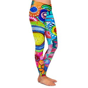 Casual Comfortable Leggings | Robin Mead - Garden of Colors | Floral Flower Colorful