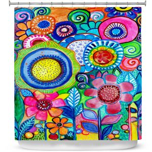 Premium Shower Curtains | Robin Mead - Garden of Colors | Floral Flower Colorful