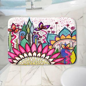 Decorative Bathroom Mats | Robin Mead - Garden Party | Floral Pattern Flowers Nature