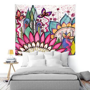 Artistic Wall Tapestry | Robin Mead - Garden Party | Floral Pattern Flowers Nature