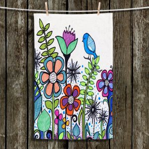 Unique Hanging Tea Towels | Robin Mead - Gift | Birds Flowers Gardens