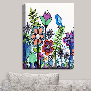 Decorative Canvas Wall Art | Robin Mead - Gift | Birds Flowers Gardens