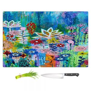 Artistic Kitchen Bar Cutting Boards | Robin Mead - Glorious | Abstract colors flowers nature