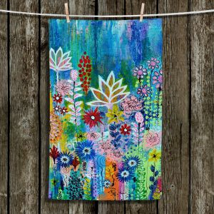 Unique Hanging Tea Towels | Robin Mead - Glorious | Abstract colors flowers nature
