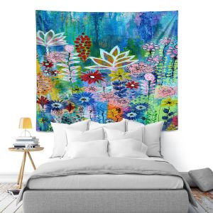 Artistic Wall Tapestry   Robin Mead - Glorious   Abstract colors flowers nature