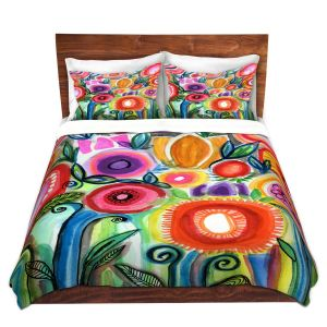 Artistic Duvet Covers and Shams Bedding | Robin Mead - Gratitude | Nature Flowers