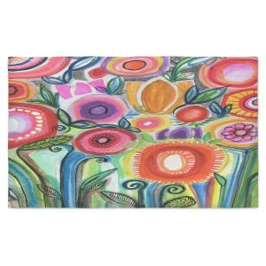 Artistic Pashmina Scarf | Robin Mead - Gratitude | Nature Flowers