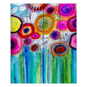 Decorative Wood Plank Wall Art | Robin Mead - Hand Picked | Nature Flowers