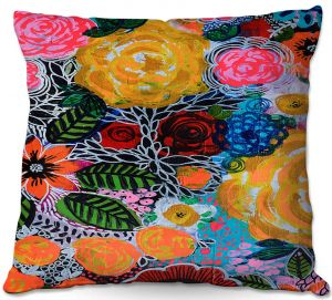 Throw Pillows Decorative Artistic | Robin Mead - Hybrid | Floral Pattern Flowers Nature