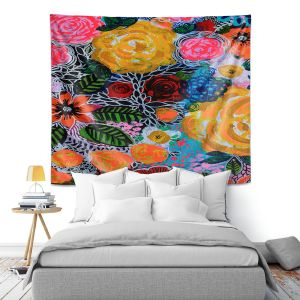 Artistic Wall Tapestry | Robin Mead - Hybrid | Floral Pattern Flowers Nature