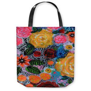Unique Shoulder Bag Tote Bags | Robin Mead - Hybrid | Floral Pattern Flowers Nature