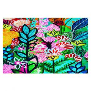 Decorative Floor Covering Mats | Robin Mead - Inglenook | plant flower pattern