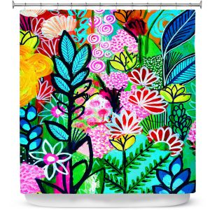 Premium Shower Curtains | Robin Mead - Inglenook | plant flower pattern
