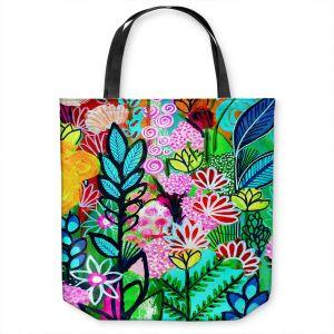 Unique Shoulder Bag Tote Bags | Robin Mead - Inglenook | plant flower pattern