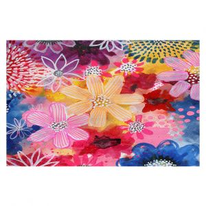 Decorative Floor Covering Mats   Robin Mead - In the Air   flower plant pattern