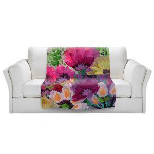 Unique Blanket Fleece Medium from DiaNoche Designs by Robin Mead - Jazmin 1