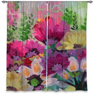 Decorative Window Treatments   Robin Mead - Jazmin 1   flower plant pattern