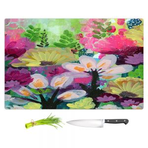 Artistic Kitchen Bar Cutting Boards | Robin Mead - Jazmin 2 | flower plant pattern