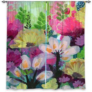 Decorative Window Treatments   Robin Mead - Jazmin 2   flower plant pattern
